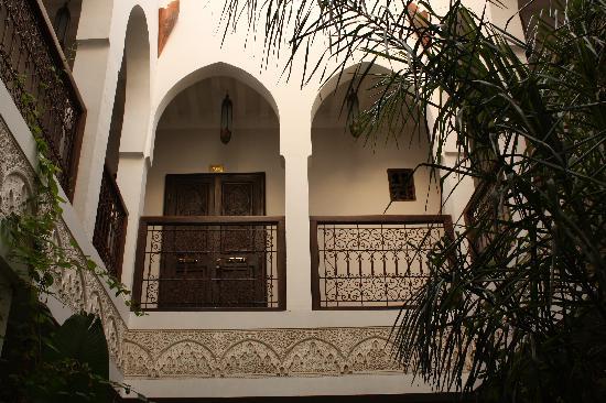 Riad Aguaviva: el 2do piso, nuestra habitación.
