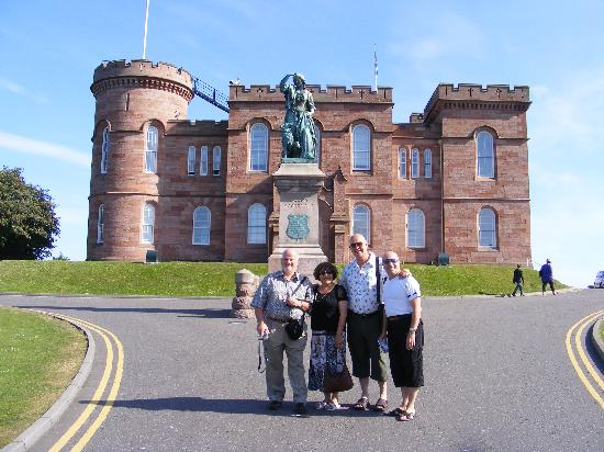 Atholdene House: The party of 4 of us outside Inverness Castle