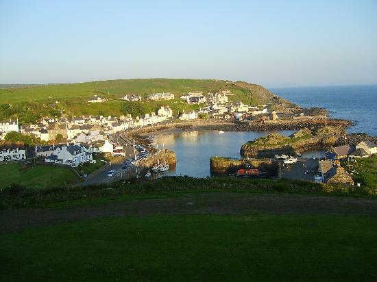 Portpatrick, UK: View from a first floor bedroom.