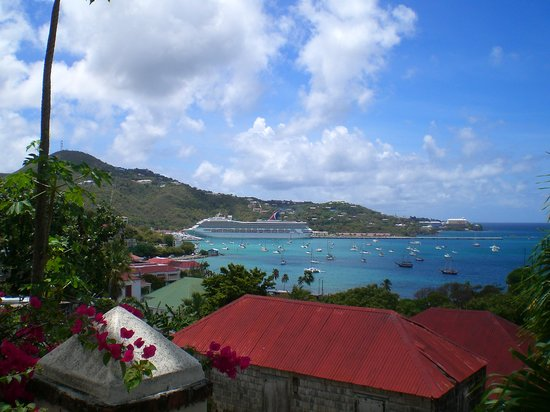 Charlotte Amalie, St. Thomas : View from the top of the 99 steps