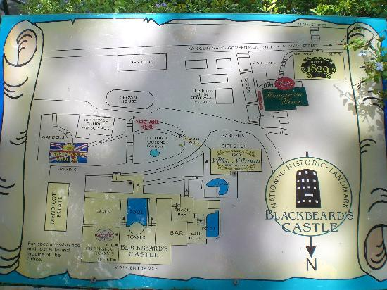99 Steps: Map of the area on display