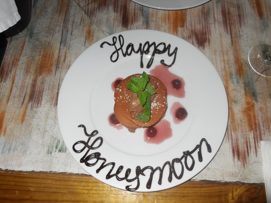 Yemanja Woodfired Grill: they made such an effort for our honeymoon
