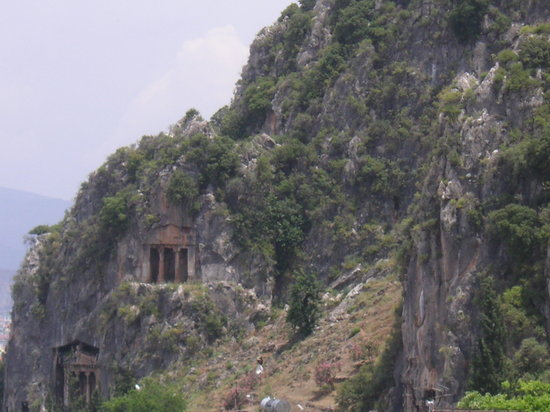Tombs behind Fethiye