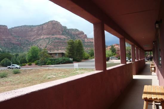 Sedona Village Lodge: View from balcony, one-bedroom suite