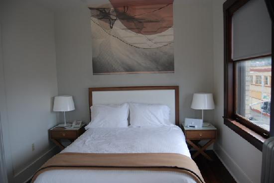 Bedroom at the Commodore Hotel