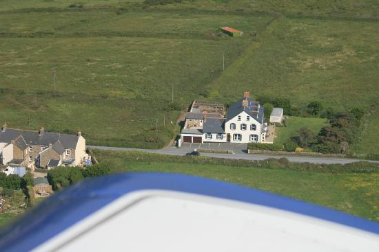 St George's Country House Hotel: The hotel from our plane