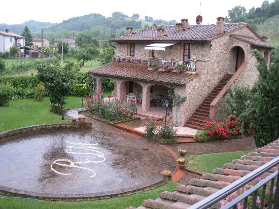 Residence Santa Maria: View from our balcony on a rainy day