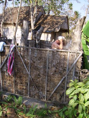 Home Stay Isaan: The outside shower - to be recommended