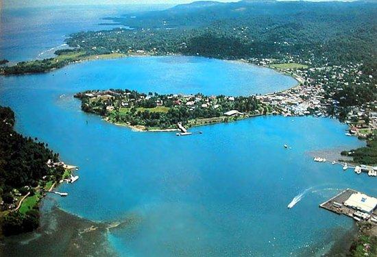 Kingston, Jamaika: Veduta Aerea della baia di Port Antonio