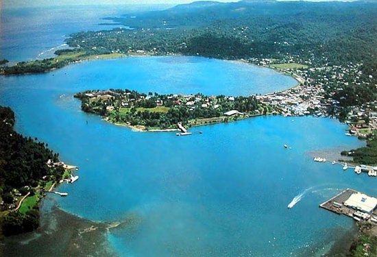 Kingston, جامايكا: Veduta Aerea della baia di Port Antonio