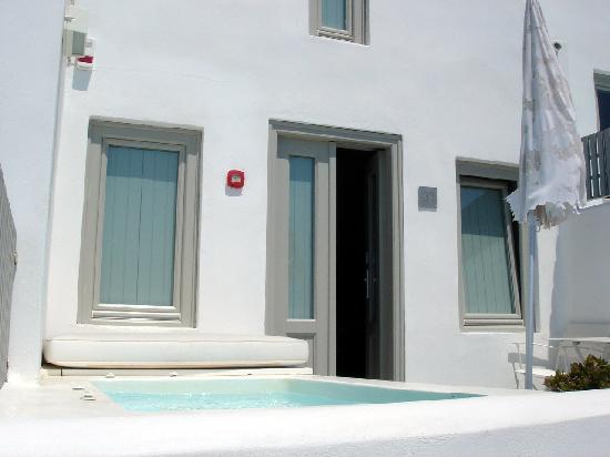 Grace Santorini Hotel: Chambre de Luxe avec jacuzzi