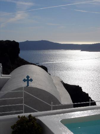 Grace Santorini Hotel: Une vue époustouflante de la terrasse