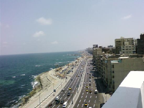 Mecca Hotel : View of main road from 9th floor