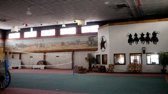 Dodge House Hotel: Volleyballplatz direkt vor den Zimmern