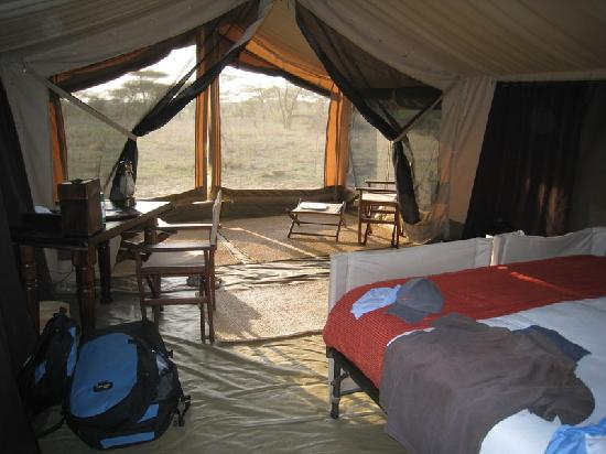 Olakira Camp, Asilia Africa: looking out to sitting room