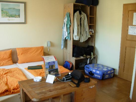 Hotel Rheintal : chambre triple avec balcon