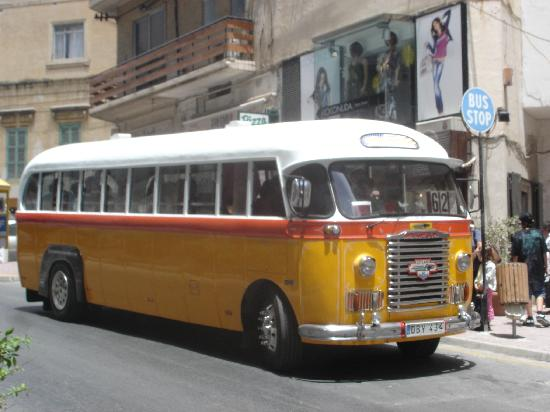 Imperial Hotel: typical Maltese bus