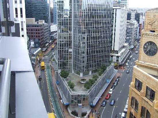 332 The Quay: Junction of Lambton Quay/Featherston St, taken from the apartment
