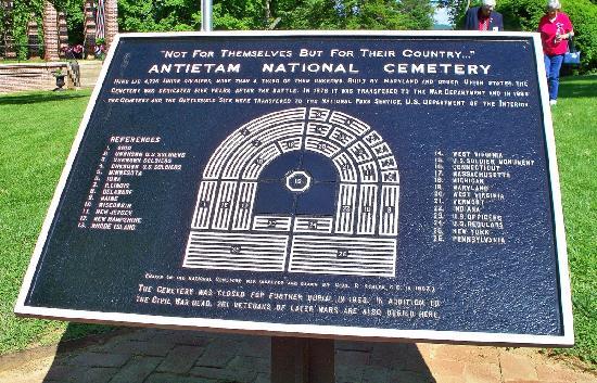 Antietam National Cemetery: Cemetery marker