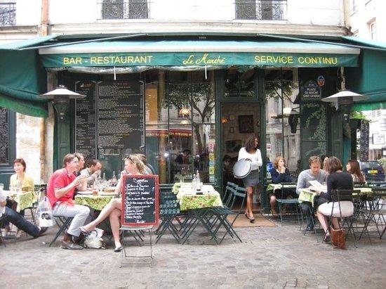 Le marche paris 2 place du marche sainte catherine le marais restaurant - Le marche du spa en france ...