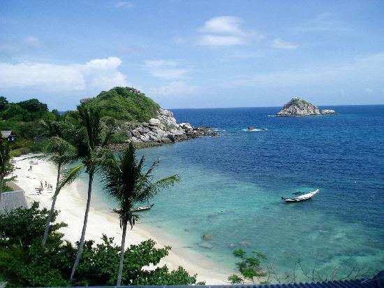 Coral View Resort Thailand : Blick vom Restaurant auf die Bucht