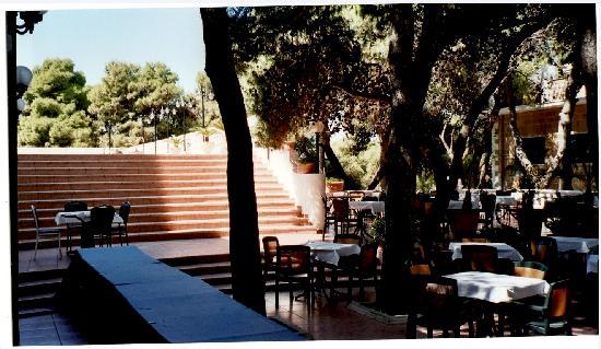 Hotel Eden Park: Zona breakfast sotto pineta