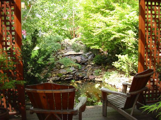 Cowslip's Belle B & B and Boutique Vacation Rentals: View from the deck outside our room.
