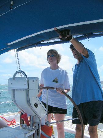 Rose Sail Inn: Captain Miel Providing Sailing Instructions