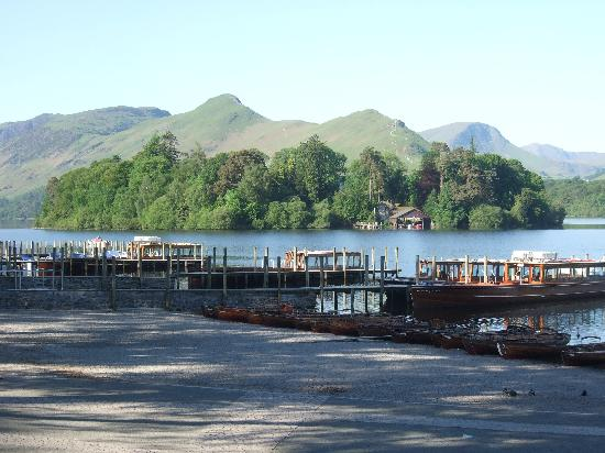 Derwentwater: Keswick boat landing stage,Lake District,Cumbria.