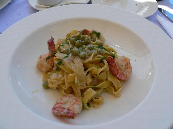 Lindos Mare Hotel: primo piatto al ristorante pegalos