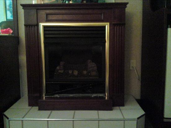 La Quinta Inn Pigeon Forge Dollywood: Fireplace missing parts.