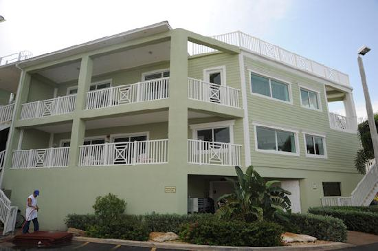 The Residence Club at Fisherman's Cove: Our balconies (both stories)
