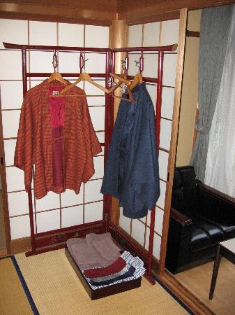 Hida Gasshoen: Traditional clothing provided in our room