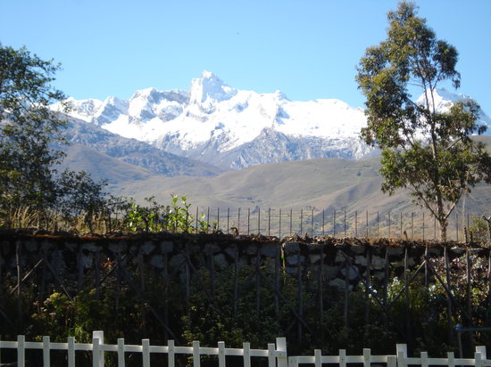 The Lazy Dog Inn: View of the Cordillera Blanca from the Inn