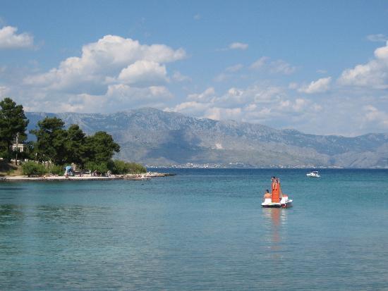 Hotel Villa Adriatica: View from beach