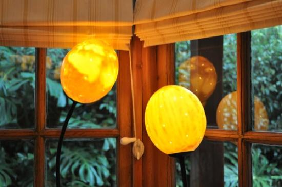 Acorn House: Ostrich lamp