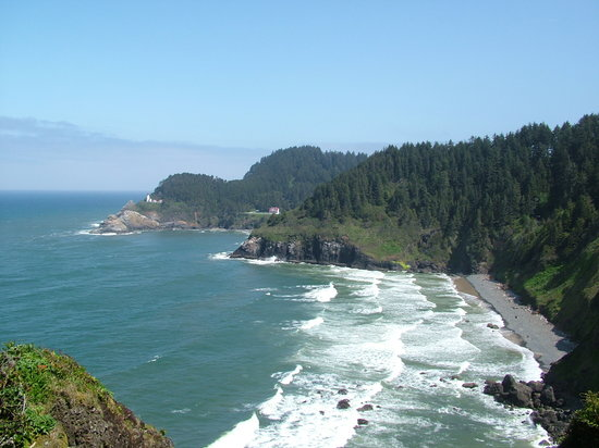 Florence, Oregón: Heceta Head Lighthouse - viewpoint off highway 101