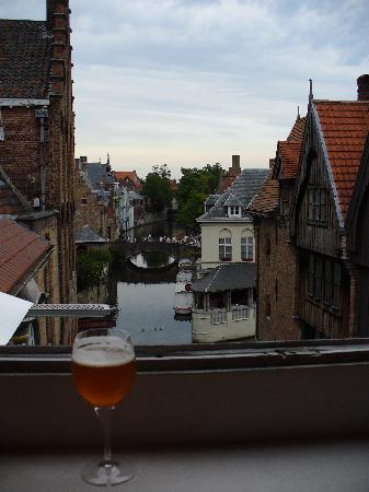 Hotel Erasmus: View from room - with Erasmus brew!