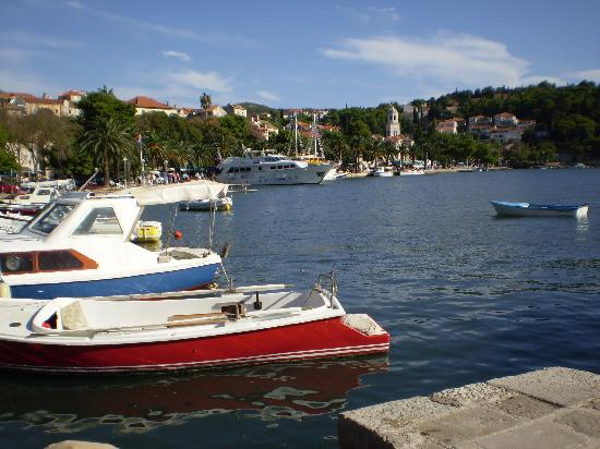 View from harbour close to Hotel Supetar Hotel