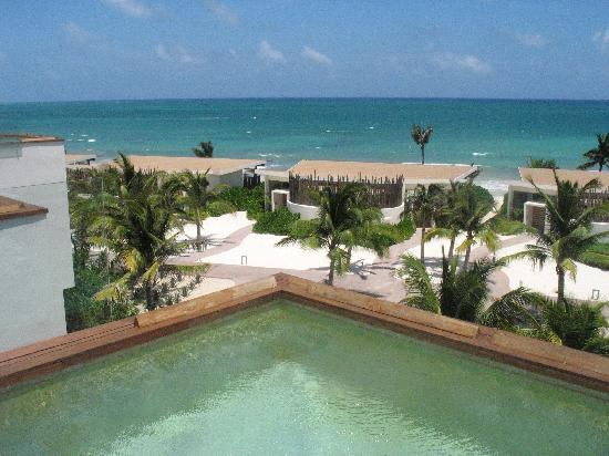 Rosewood Mayakoba: View from the rooftop deck from plunge pool.