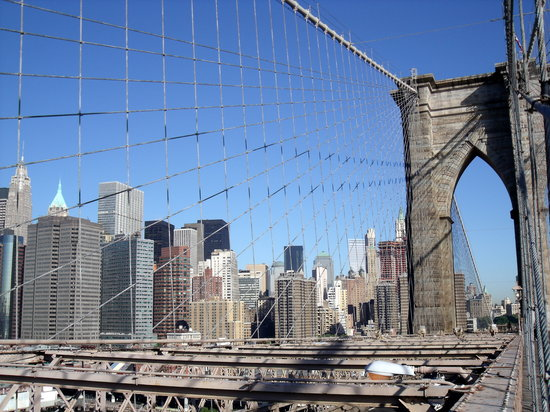 Brooklyn, Estado de Nueva York: Auslick auf Manhattan
