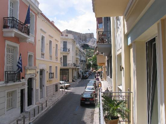 AVA Hotel Athens: View from balcony to Acropolis