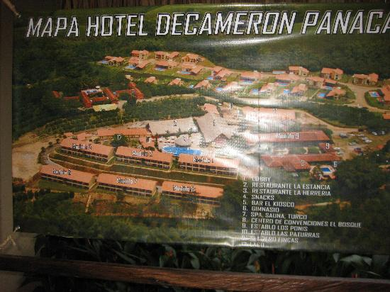 Decameron Panaca : map of the hotel