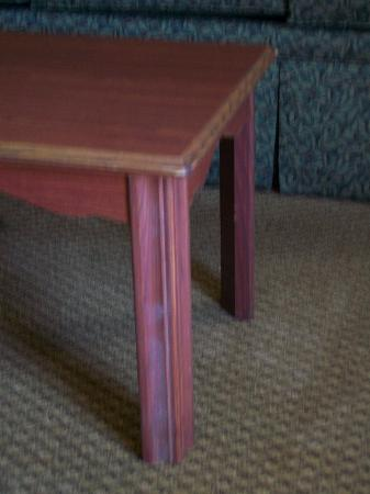 Hampton Inn Nashville / Vanderbilt: mold on leg of table