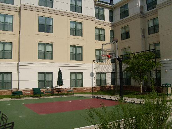 Homewood Suites by Hilton Columbia: Basketball court & Pool outside.