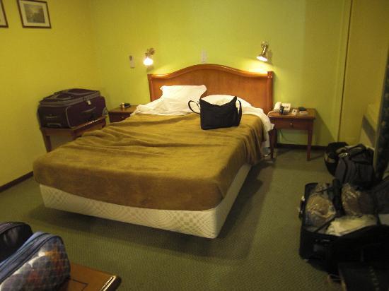 Hotel da Bolsa: Small Bed & Dreary Carpeting