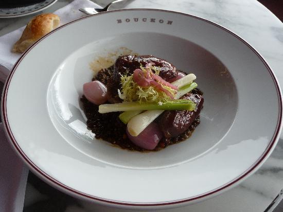 Bouchon: Braised pork cheek with pork shoulder rillettes... - Foto di ...