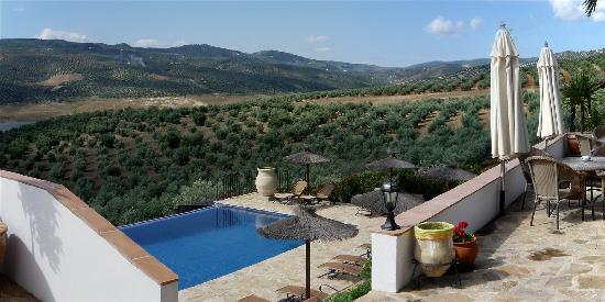 Iznajar, Spanyol: View of pool