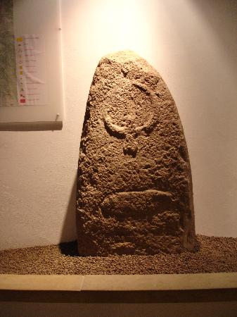 Laconi, Ιταλία: one of the menhirs in the museum