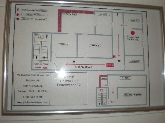 Escape map Picture of The Dubliner Hotel and Irish Pub